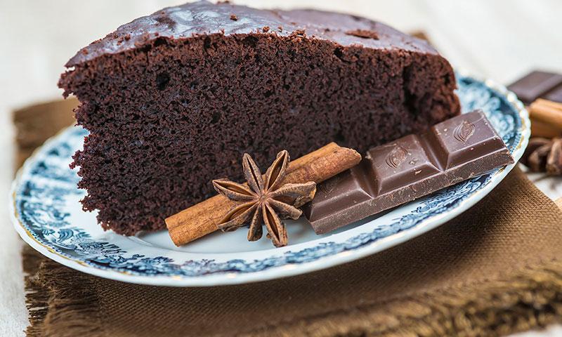 Bizcocho de chocolate y especias