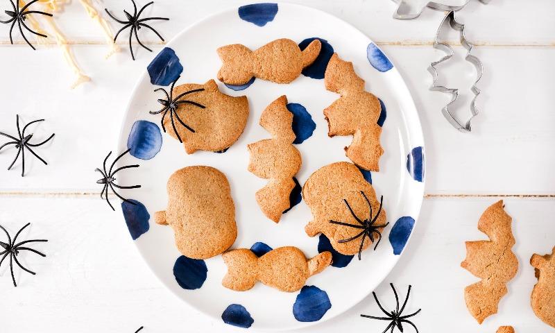 Galletas de avena y jengibre para 'Halloween'