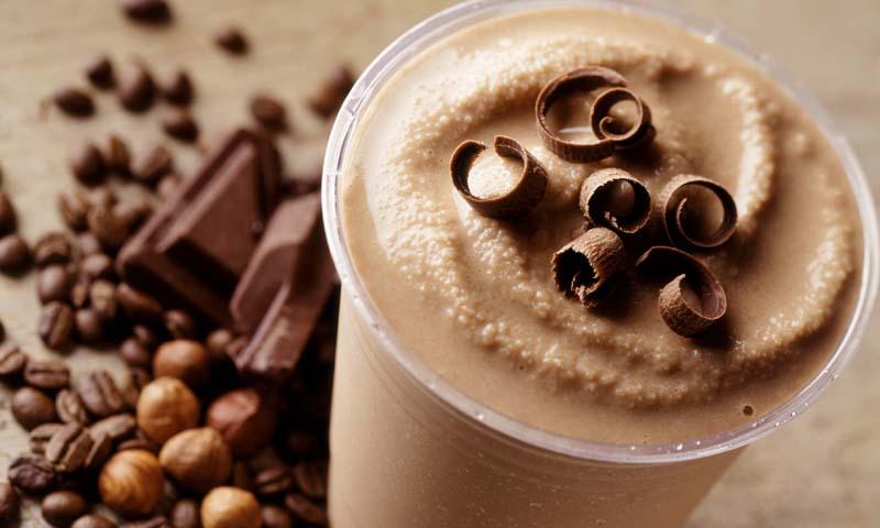 'Smoothie frappé'de moca, chocolate y avellana