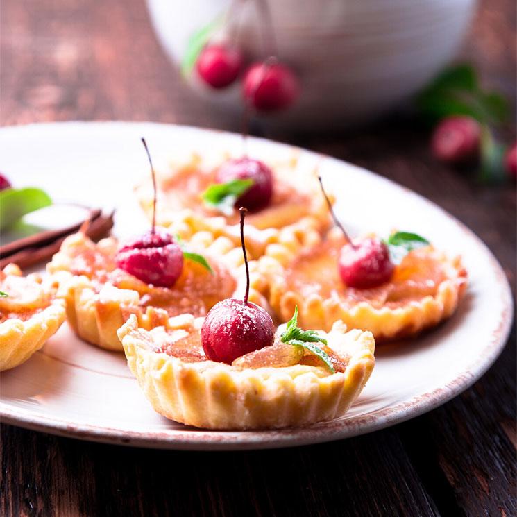 Tartaletas de compota de manzana