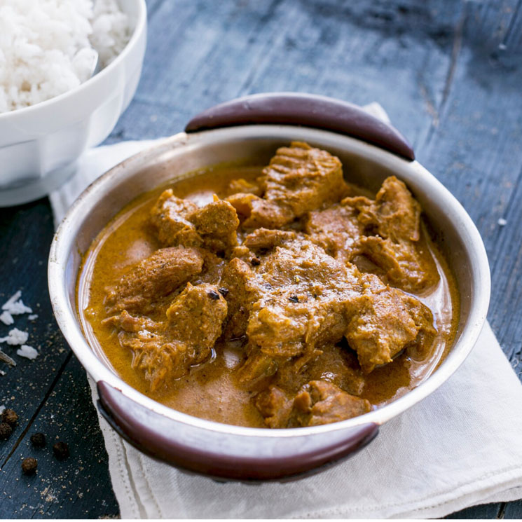 Curry de cordero al azafrán