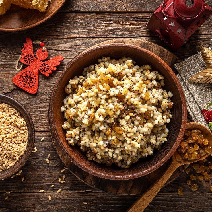 'Porridge' vegano de cebada y uvas pasas