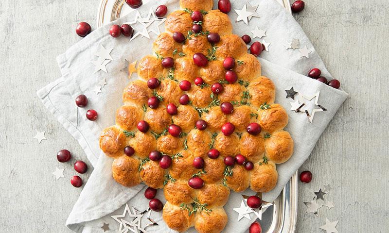 Árbol de Navidad con arándanos y tomillo