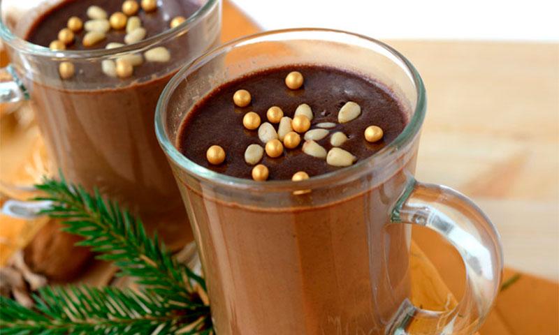 Chocolate con piñones