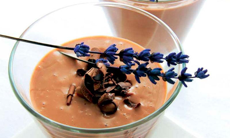 Chocolate con lavanda y miel