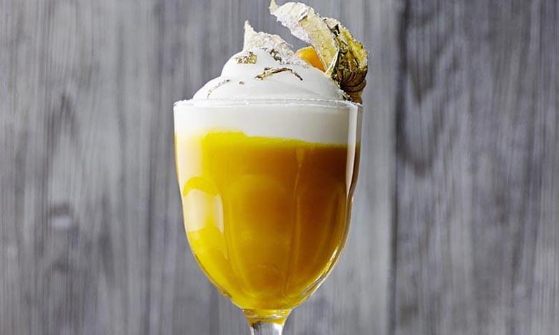 Cóctel mango 'latte' (sin alcohol)
