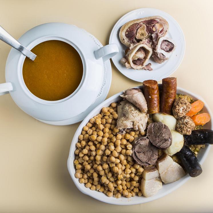 Cocido madrileño del restaurante 'Cruz Blanca Vallecas'