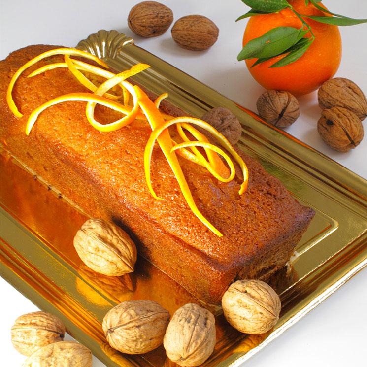 Bizcocho de naranja y nueces