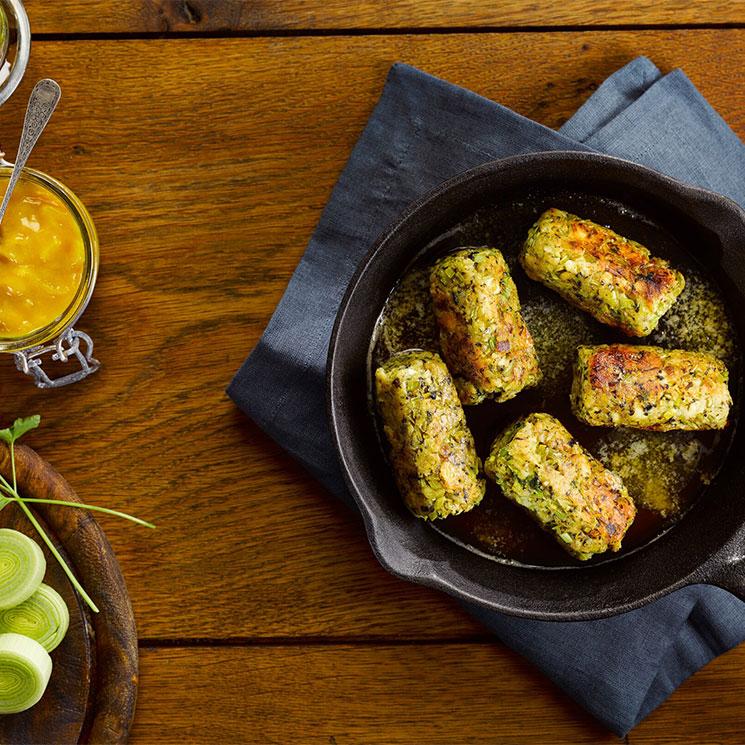 'Glamorgan sausages' (salchichas vegetarianas)
