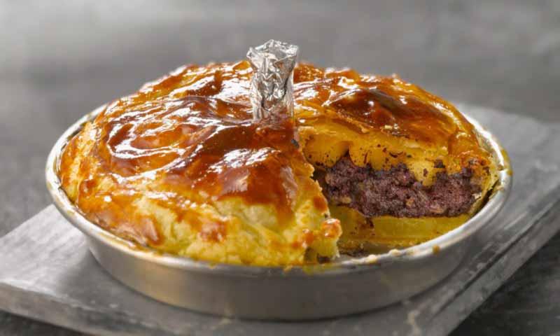 Tarta de patata y morcilla