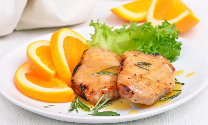 Lomo de cerdo a la naranja, cero grasas y mucho sabor