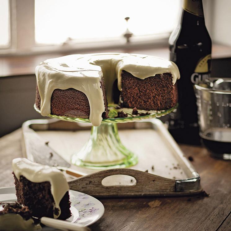Tarta Guinness de chocolate casera