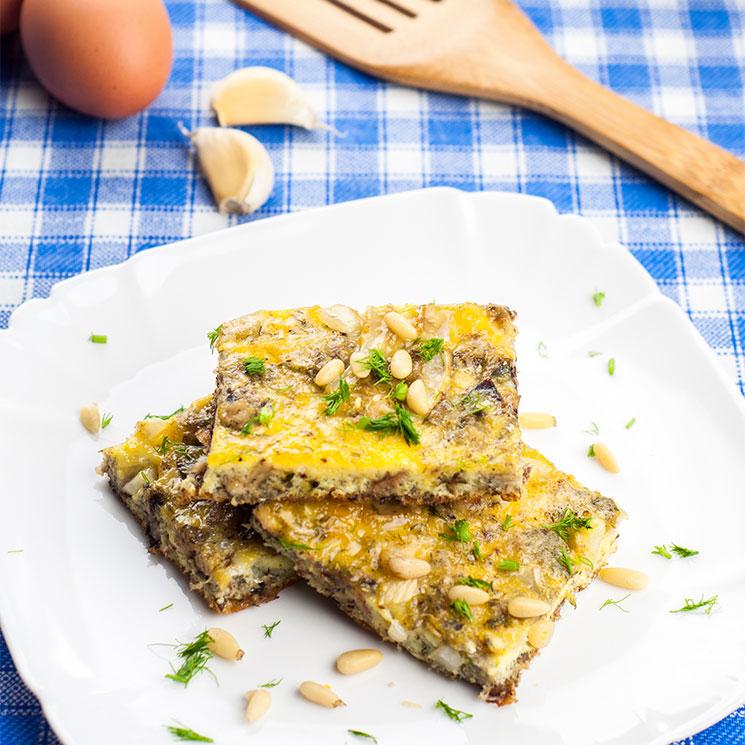 'Frittata' de sardinas con piñones