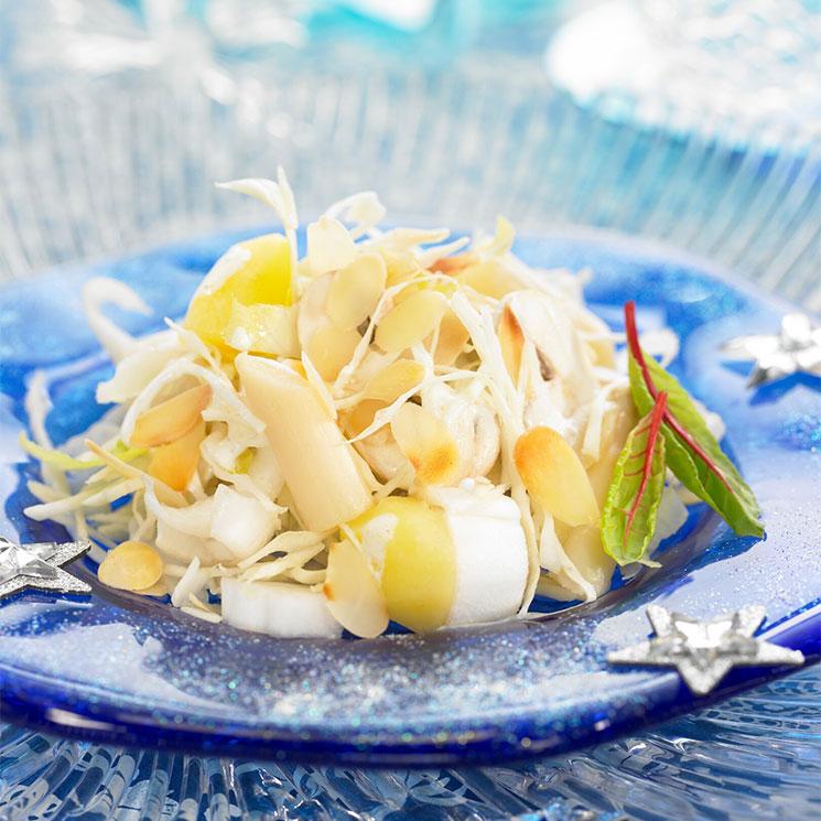 Ensalada de espárragos, patata y champiñón