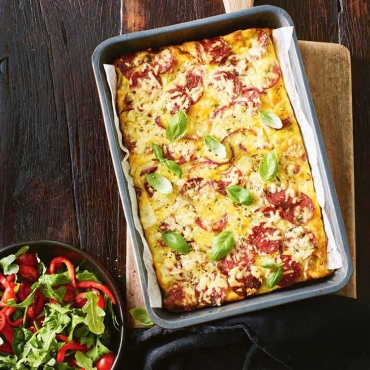 'Frittata' de 'peperoni' y patata