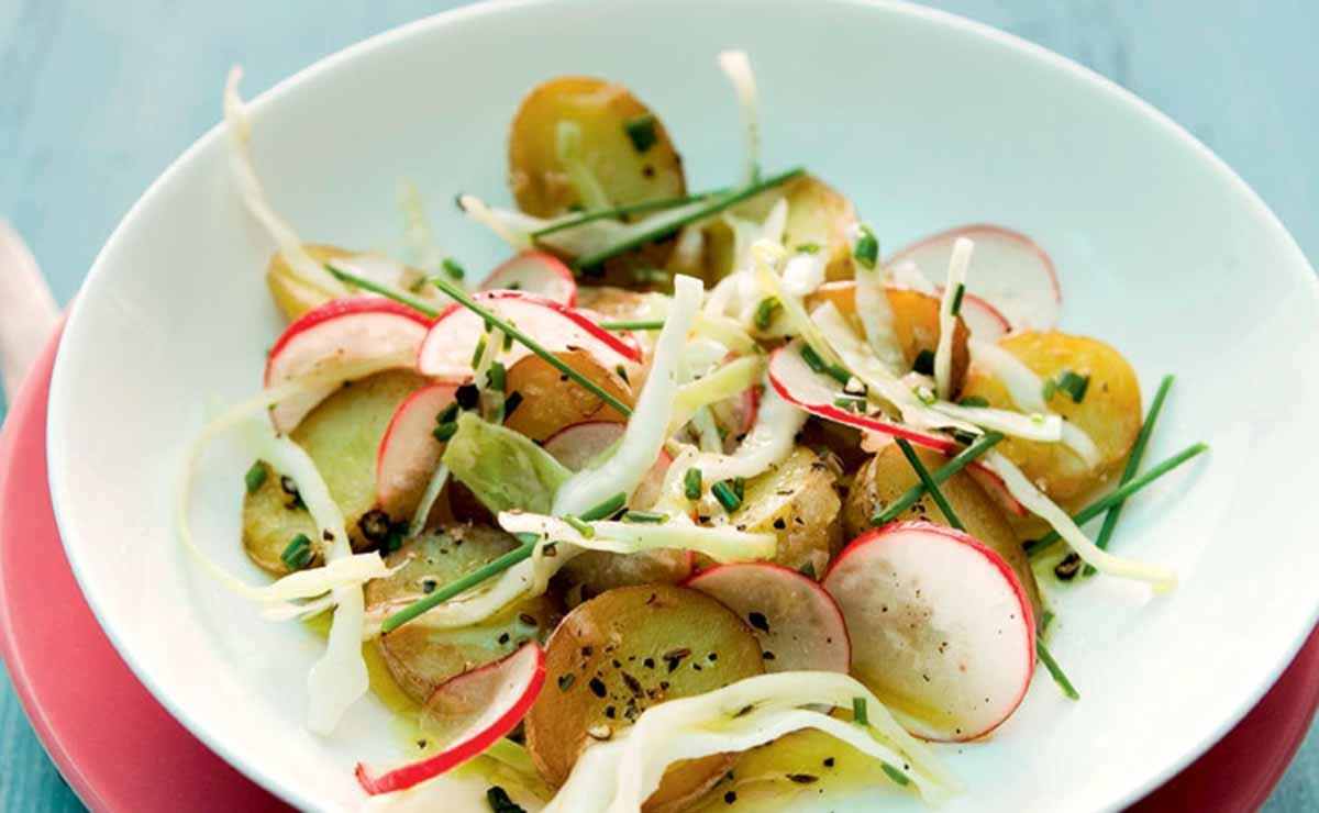 Patatas con verduras crujientes