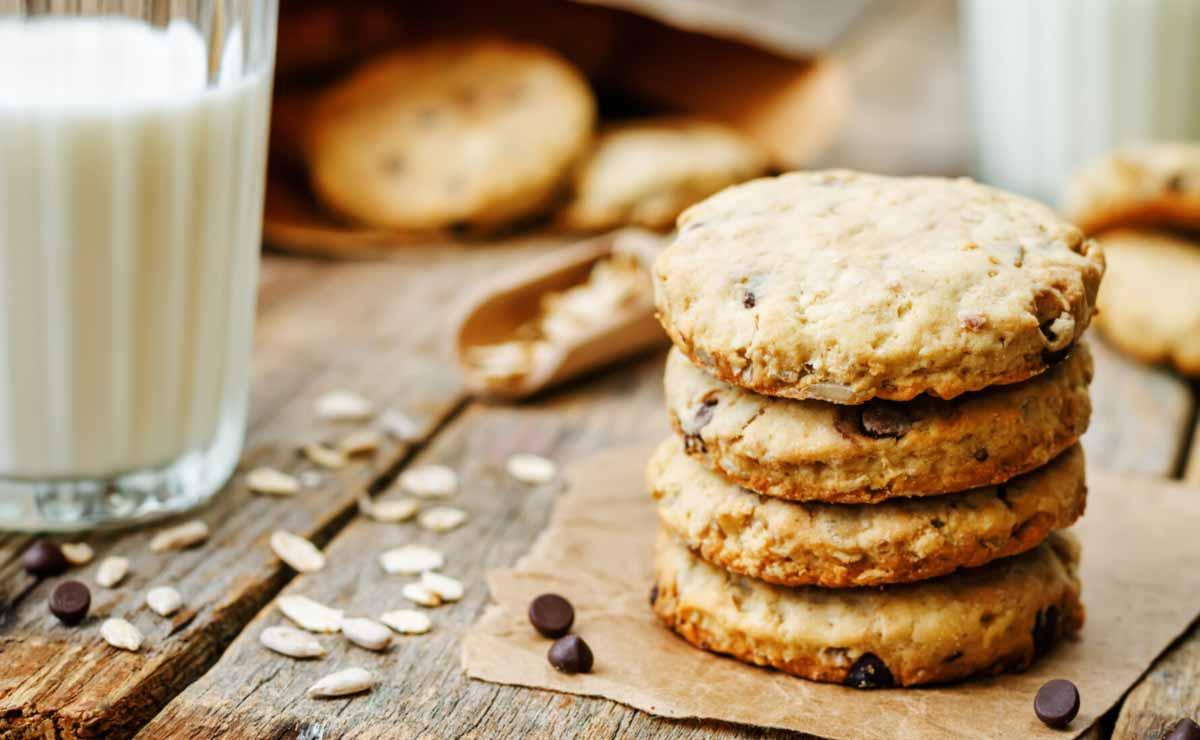 Cookies de avena, chocolate y pipas de girasol