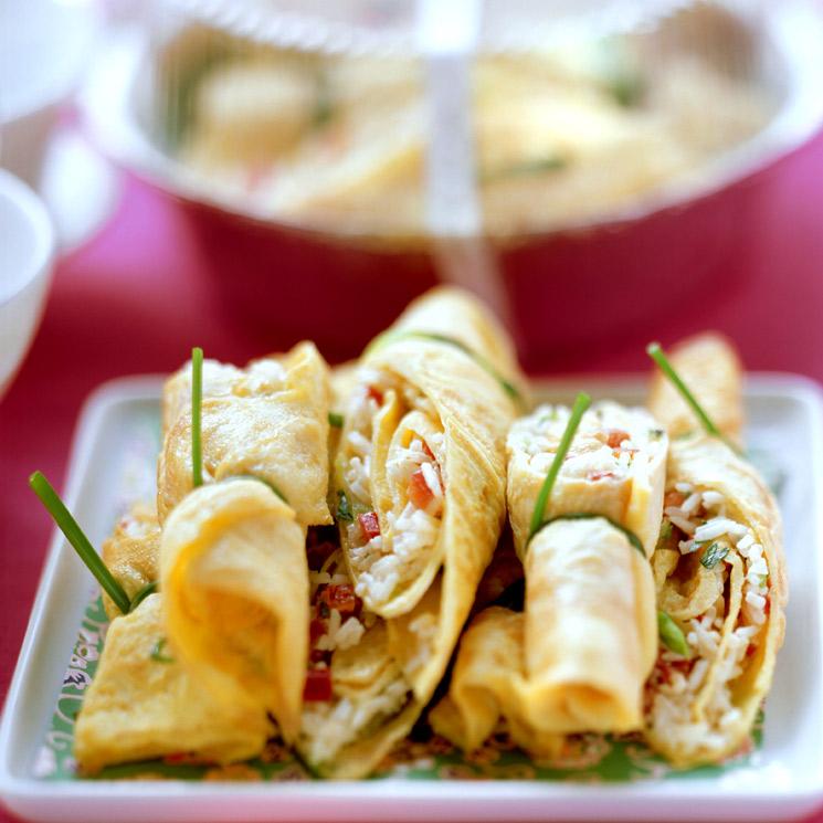 Tortillitas de arroz con verduras
