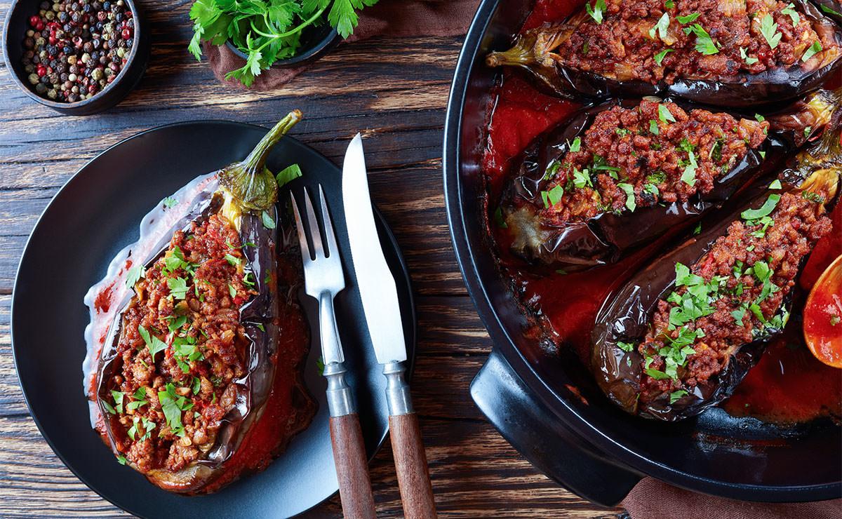 Berenjenas rellenas de carne picada