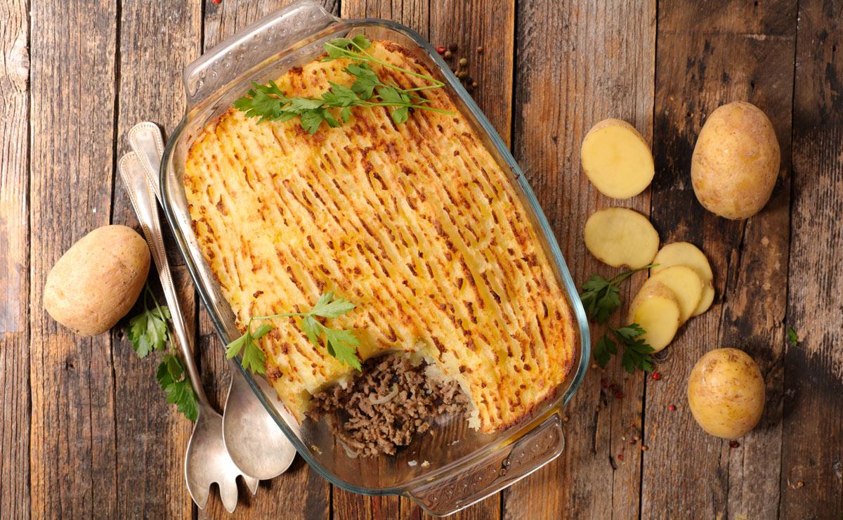'Hachis Parmentier' (pastel de carne y patata francés)