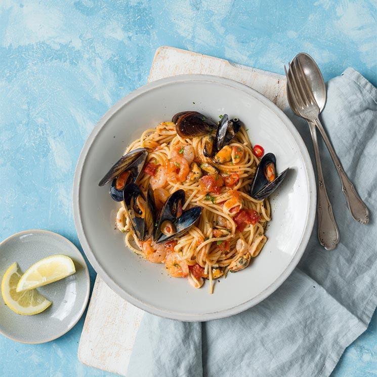 Espaguetis 'frutti di mare'