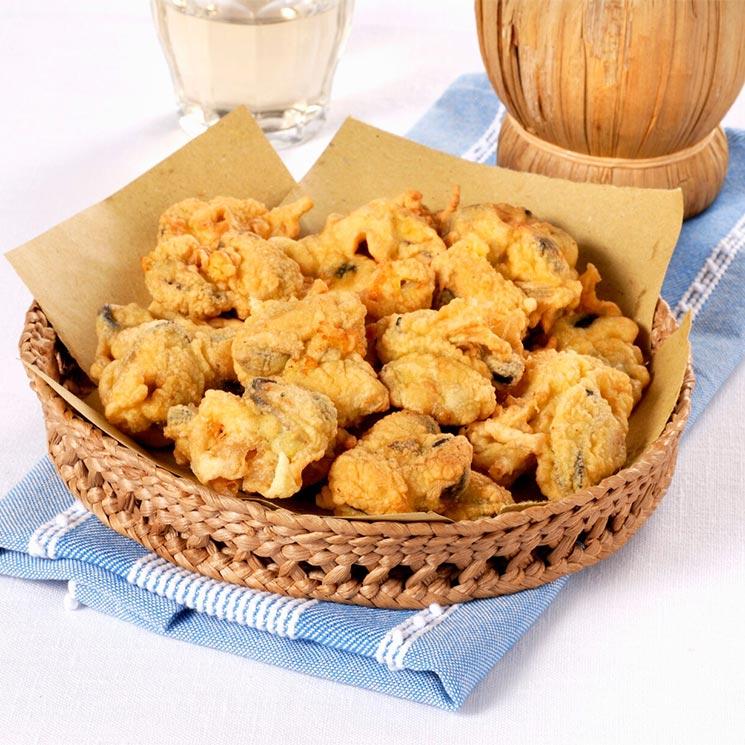 Mejillones en tempura