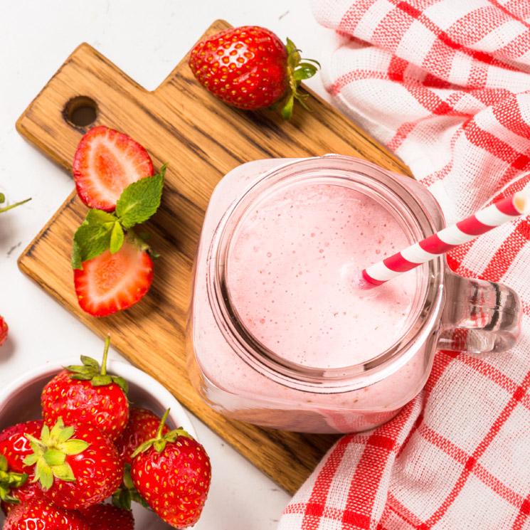 Batido de fresas y yogur