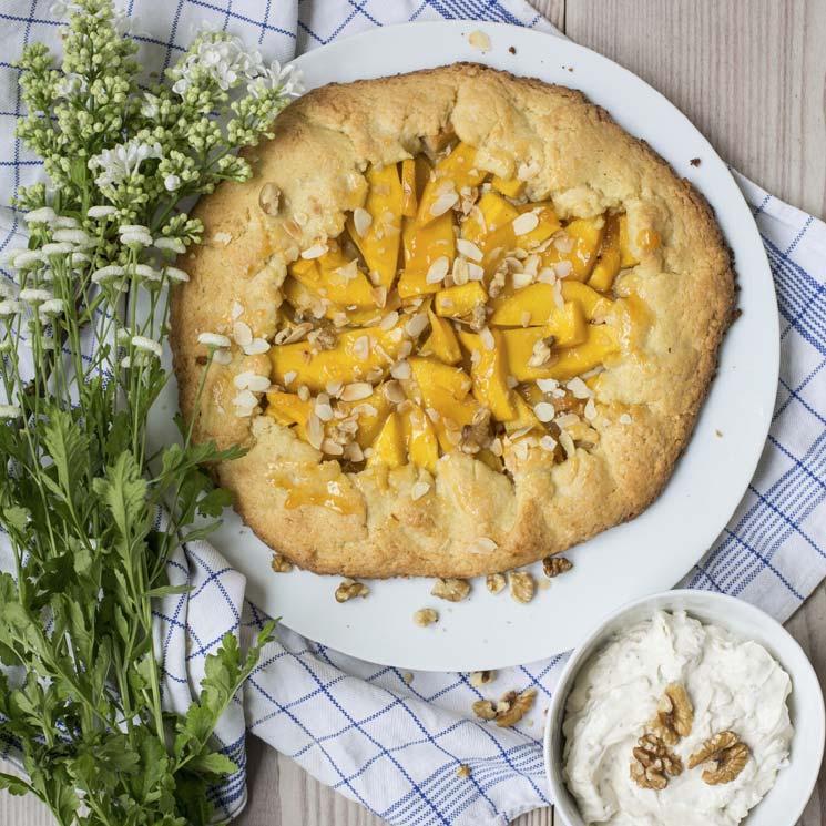 'Galette' de mango con mascarpone y frutos secos