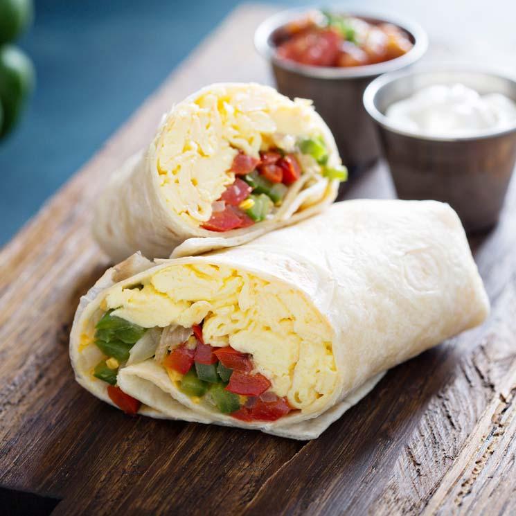 Burritos con tortilla francesa y verduras