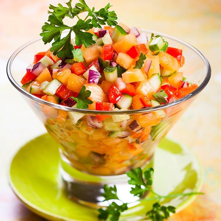 Picadillo de melón y verduras