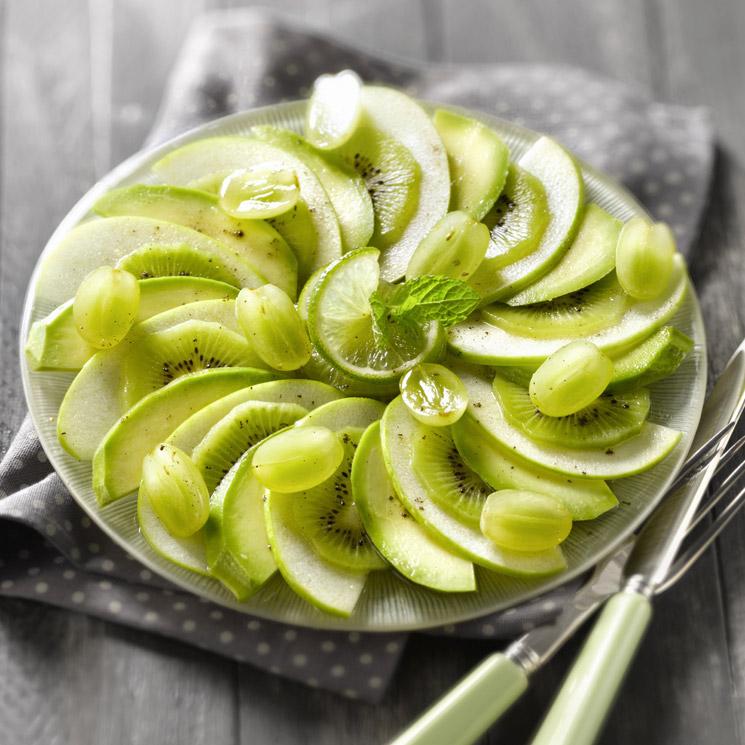 'Carpaccio' de kiwi, manzana verde y aguacate