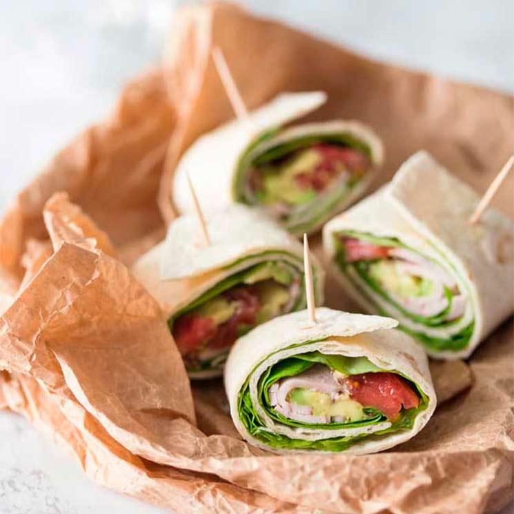 'Wrap' vegetal con pavo y aguacate