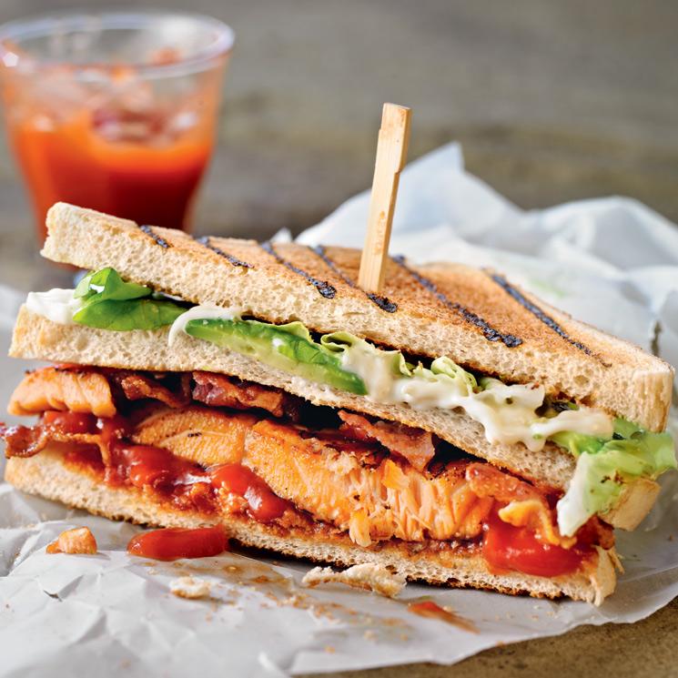 Sándwich nórdico de salmón