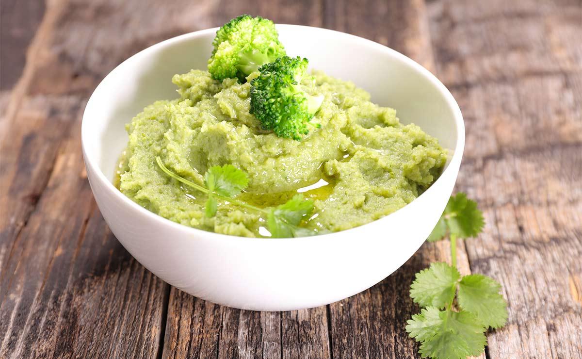 Puré de brócoli al cilantro