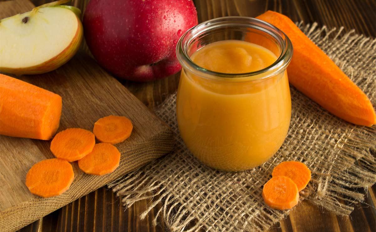 Puré de zanahoria y manzana