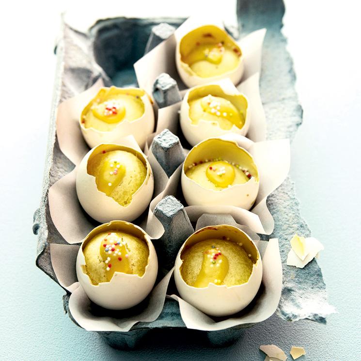 'Minimuffins' con ponche de huevo