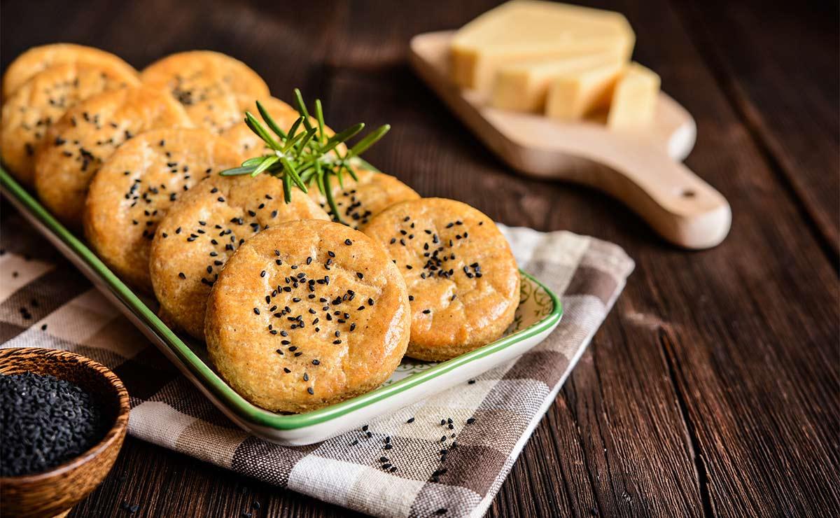 Galletas de queso con sésamo
