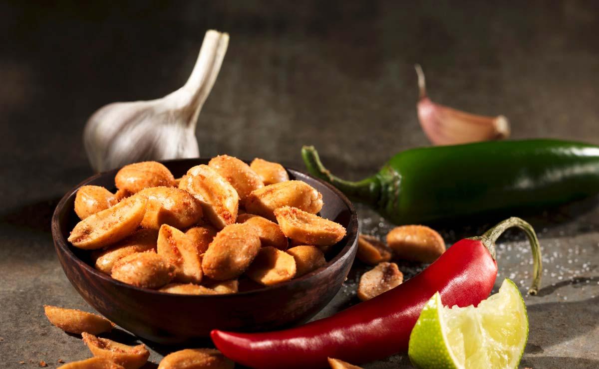 Cacahuetes con chile y lima