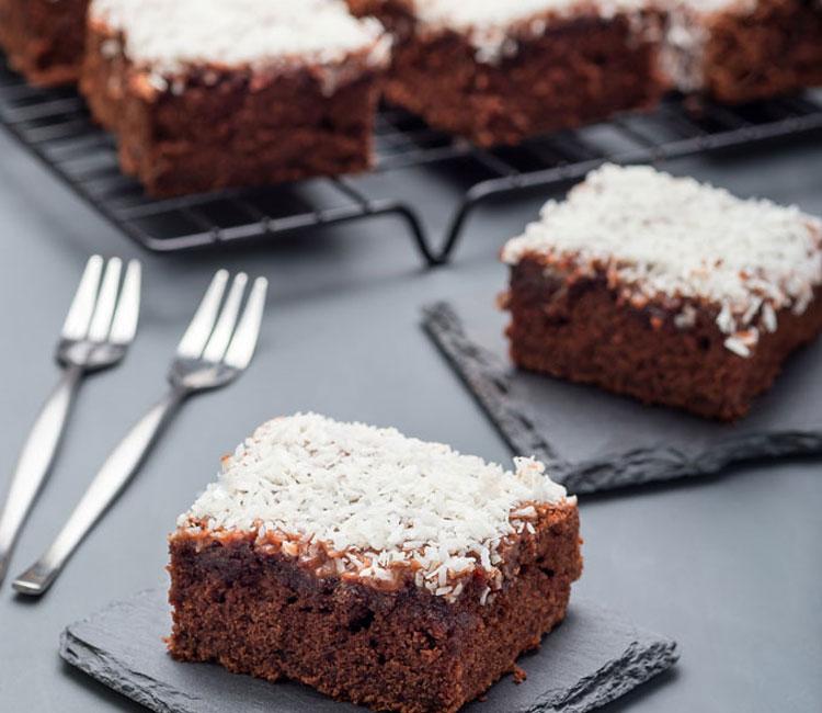 Brownie de chocolate, almendra y coco (sin harina)
