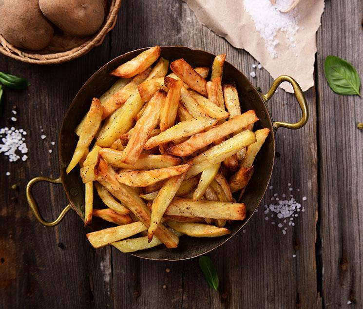 Patatas recién fritas