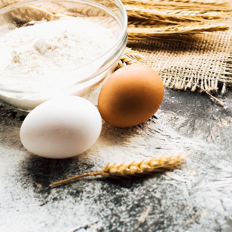 Huevo y harina