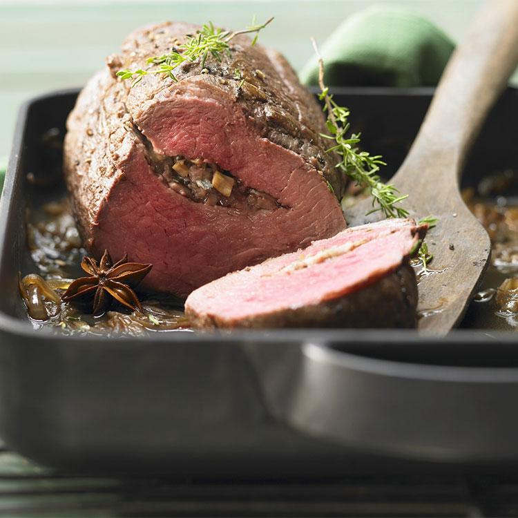 Carne con hierbas y especias