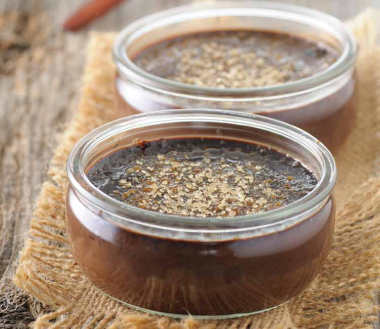 Crème brûlée de chocolate