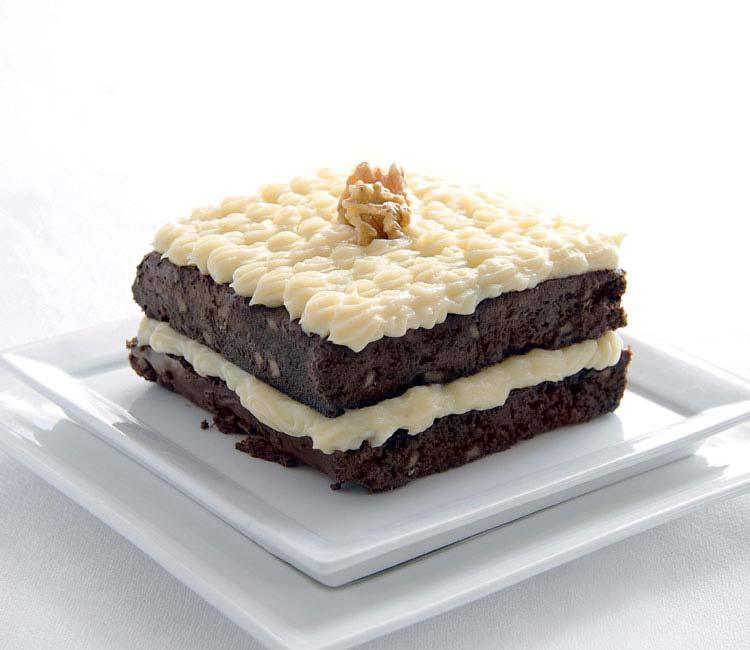 Brownie con crema pastelera