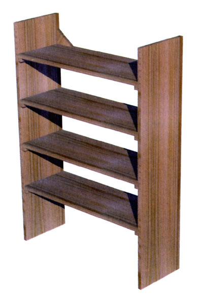 Aprende c mo hacer una sencilla estanter a foto - Estanterias modulares de madera ...
