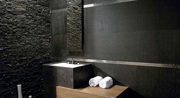 Azulejos Baño Pizarra:En el baño: ¿azulejos o piedra? – Foto 3