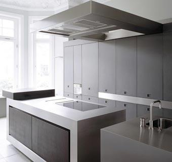 Diseño: cocinas de acero