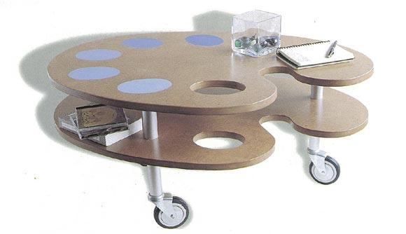 Construye una mesa con ruedas
