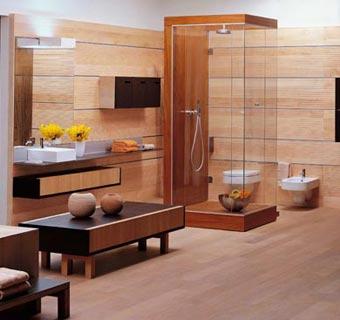 Diseño: ¿te atreves con el parqué en el baño?