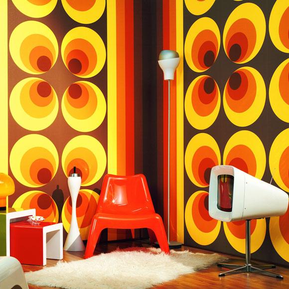 Estilo 39 retro 39 para los papeles y tejidos m s modernos foto for Tejidos y novedades paredes